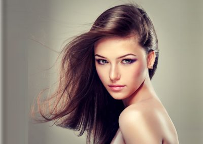 Brunette girl with long hair