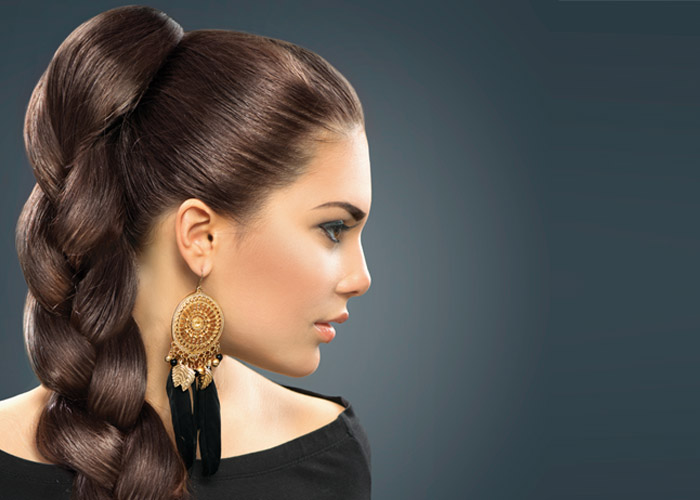 Hair Style 1 – Wedding Hair Style  – Thick Braids