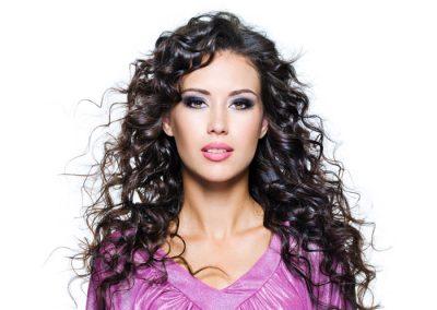 Long Black curly Hair